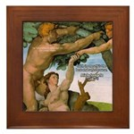 Sistine Chapel Adam & Eve Framed Tile