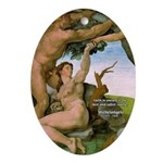 Sistine Chapel Adam & Eve Oval Ornament