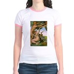 Sistine Chapel Adam & Eve Jr. Ringer T-Shirt
