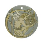 Art Nouveau Angel Art Pendant - Ornament