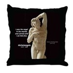 Michelangelo Angel in Sculpture Throw Pillow
