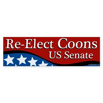 Re-elect Chris Coons to the U.S. Senate bumper sticker