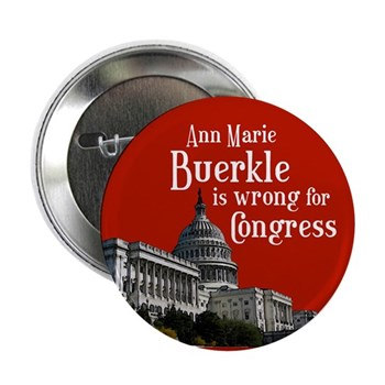 Ann Marie Buerkle is wrong for Congress campaign button