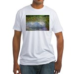 Monet Painting: Beauty Quote Fitted T-Shirt