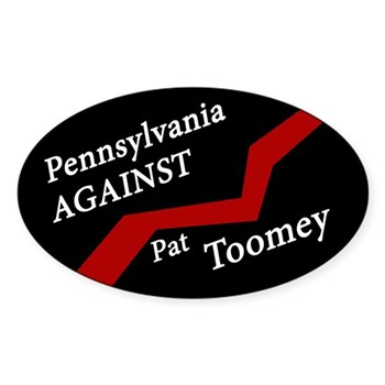 Black and Red Pennsylvania Against Pat Toomey bumper sticker