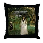 Berthe Morisot Art Quote Throw Pillow