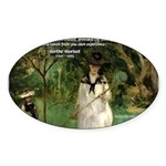 Berthe Morisot Art Quote Oval Sticker