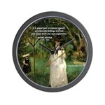 Berthe Morisot Art Quote Wall Clock
