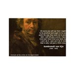 Renbrandt Self Portrait & Quote Rectangle Magnet (
