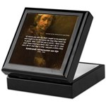 Renbrandt Self Portrait & Quote Keepsake Box