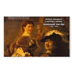 Art & Atmosphere Rembrandt Rectangle Sticker