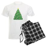 Celtic Christmas Tree Men's Light Pajamas