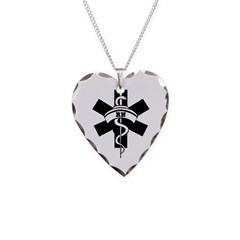RN Nurses Necklace Heart Charm