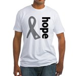 Hope Ribbon Diabetes Fitted T-Shirt