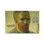 Vincent Van Gogh Quote Rectangle Magnet (100 pack)