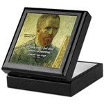 Vincent Van Gogh Quote Keepsake Box