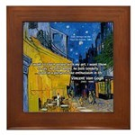 Vincent Van Gogh Color Art Framed Tile