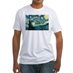 Starry Night Vincent Van Gogh Fitted T-Shirt