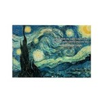 Starry Night Vincent Van Gogh Rectangle Magnet (10