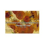 Van Gogh Painting & Quote Rectangle Magnet (100 pa