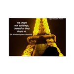 Art Architecture Eiffel Tower Rectangle Magnet