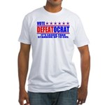 Vote Defeatocrat (Democrat) Fitted T-Shirt