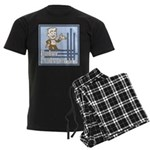 Deco Father of the Groom Men's Dark Pajamas
