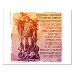 St. Michael Prayer in Latin Small Poster