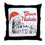 Buon Natale Roma Throw Pillow