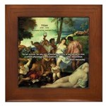 Intoxication Nietzsche Art Framed Tile
