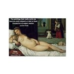 Freud Erotic Quote and Titian Rectangle Magnet (10 p