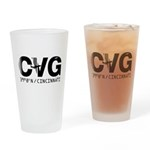 Cincinnati Ohio CVG airport code drinking glass