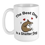 Best Shelter Dog Large Mug