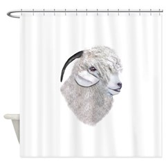 Angora Goat Portrait Shower Curtain