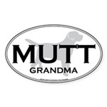 MUTT GRANDMA Oval Sticker
