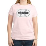 RESCUE Women's Pink T-Shirt