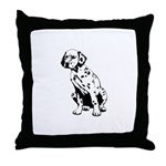 Top Dog Dalmations Throw Pillow