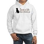 Adopt Homeless Lab Hooded Sweatshirt