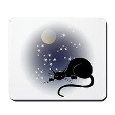Nocturnal Black Cat II Mousepad