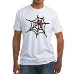 Spider Web with Spider Hallow Fitted T-Shirt
