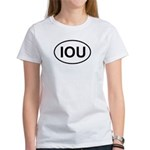 IOU European Oval Cheap Skate Women's T-Shirt