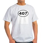 407 Orlando Area Code Oval Light T-Shirt