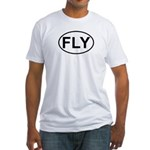 Fly Pilot Flying European Oval Fitted T-Shirt