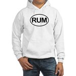 Rum Booze Alcohol Drink Oval Hooded Sweatshirt