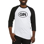 GIN Alcohol Booze Drink Oval Baseball Jersey