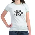 Snowflake Winter European Oval Jr. Ringer T-Shirt