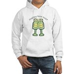 Happy New Years Toast Hooded Sweatshirt