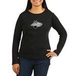 Bearded Clam Women's Long Sleeve Dark T-Shirt