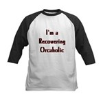 Recovering Orcaholic Kids Baseball Jersey