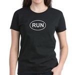 Run Runner Running Track Oval Women's Dark T-Shirt
